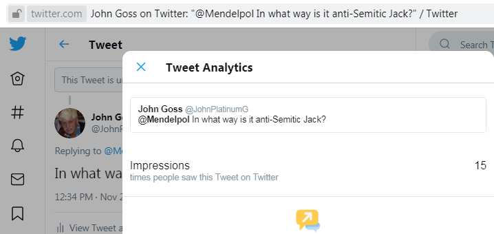 Jack Mendel you are blocked with views